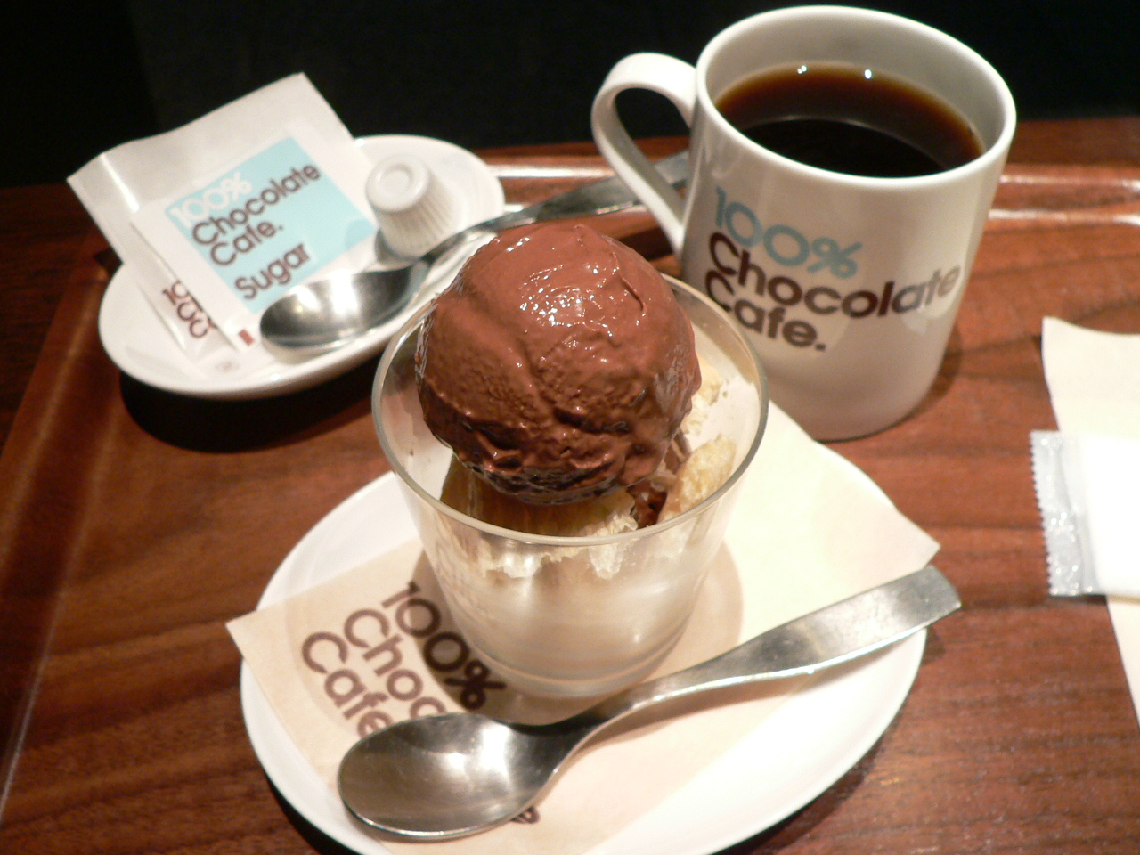 Девушки, открытка мороженое с кофе
