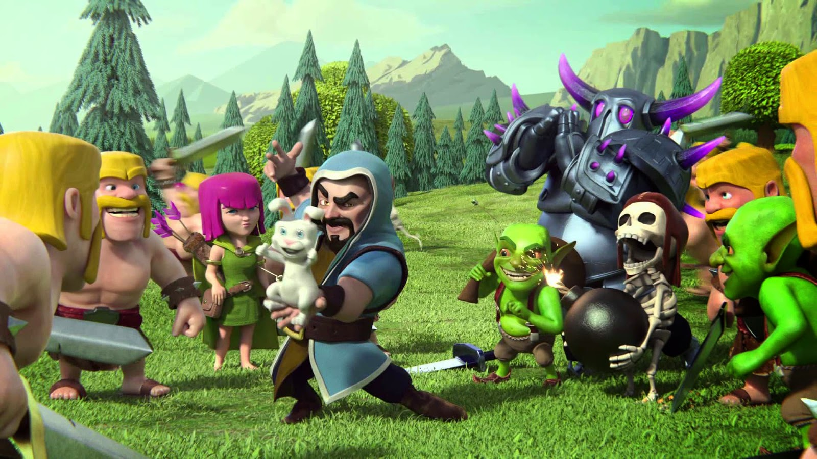 Clash Of Clans Barbarian King Wallpaper  Dota  and ESports 1600x900
