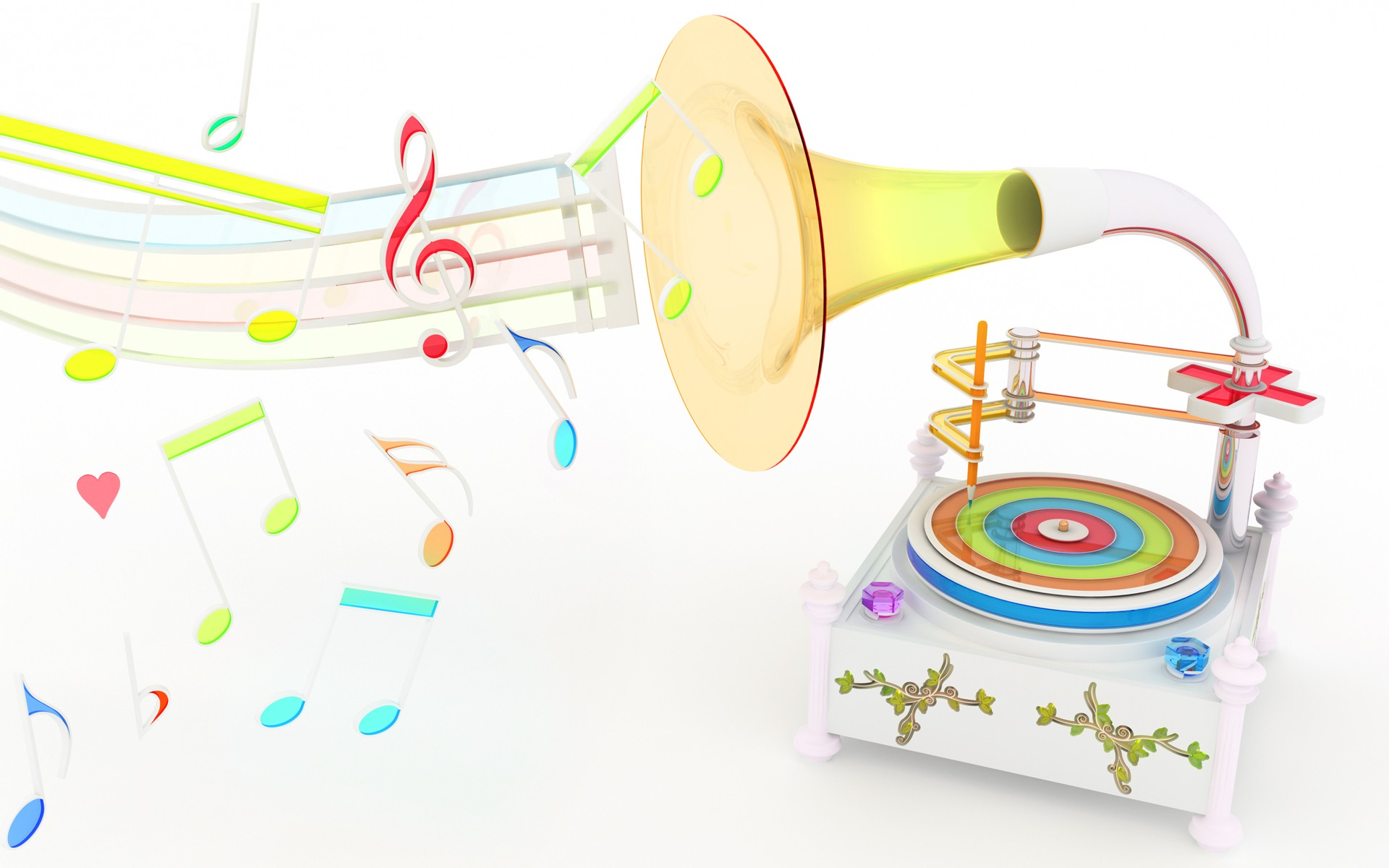 3d Colorful Music Notes Wallpaper: Colorful Music Wallpapers (46 Wallpapers)