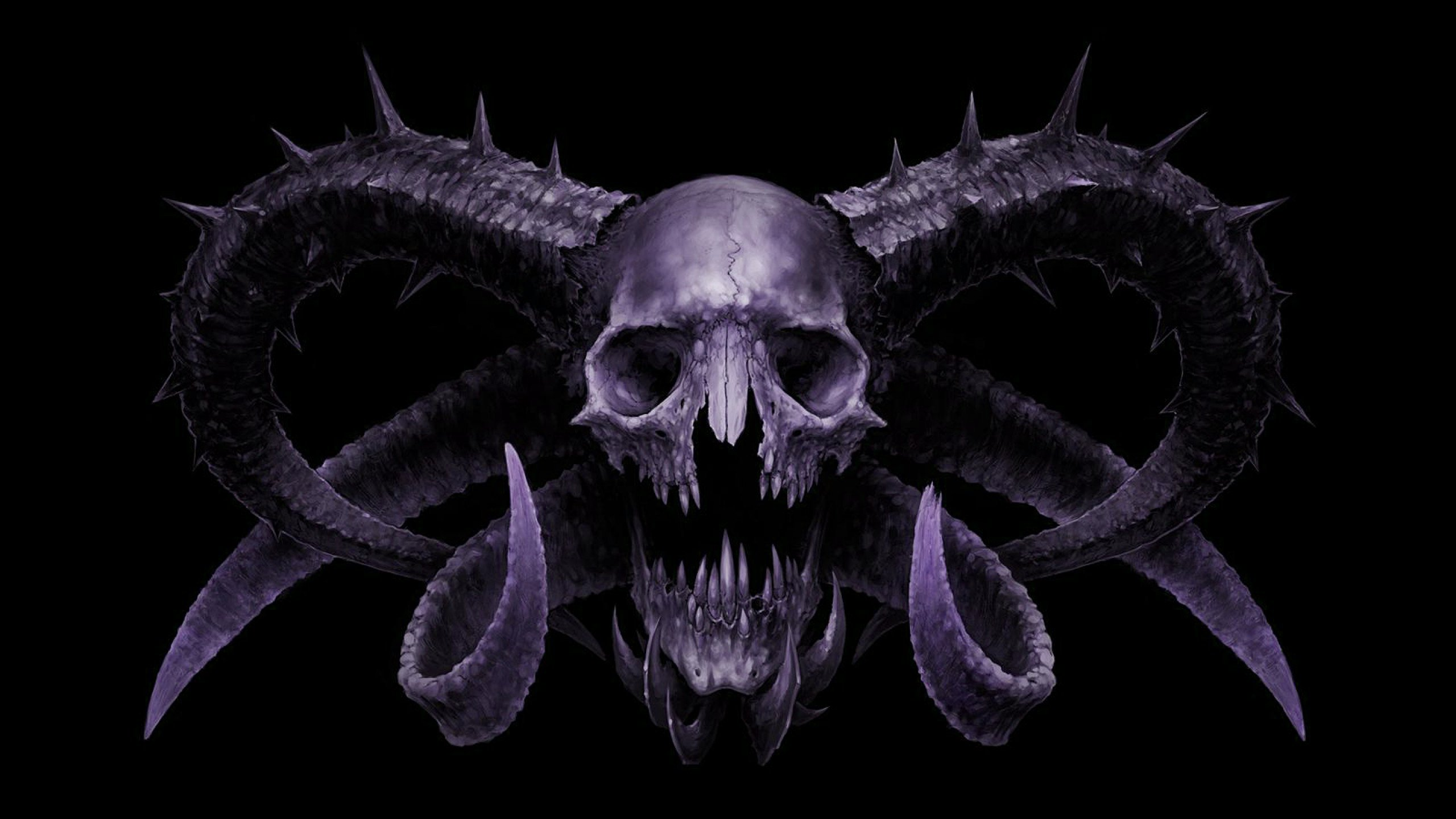 Awesome Skull Backgrounds Wallpaper 2560×1440