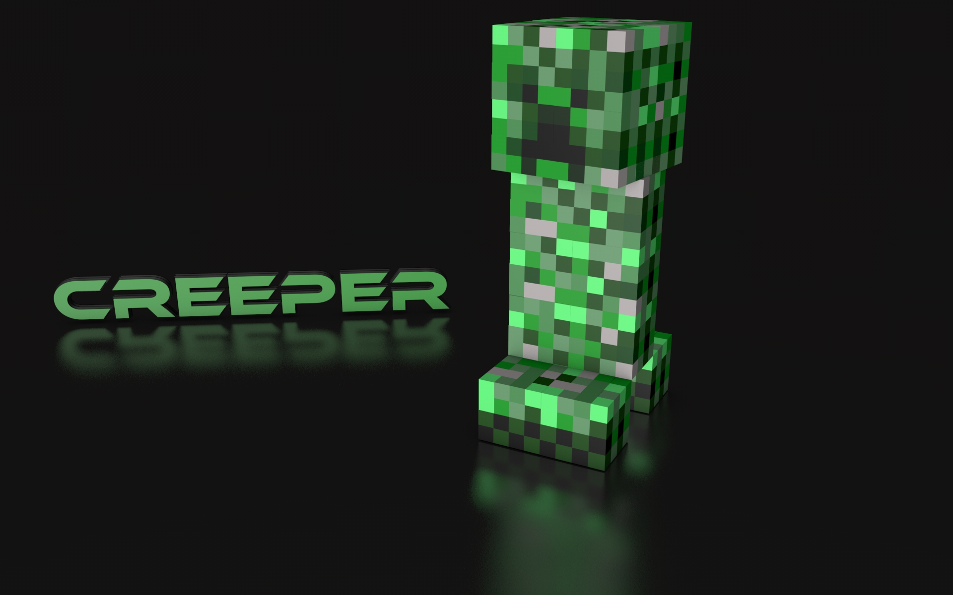 Fabulous Awesome Minecraft Wallpapers Creeper Te For Computer HD Wallpaper Of 1920x1200