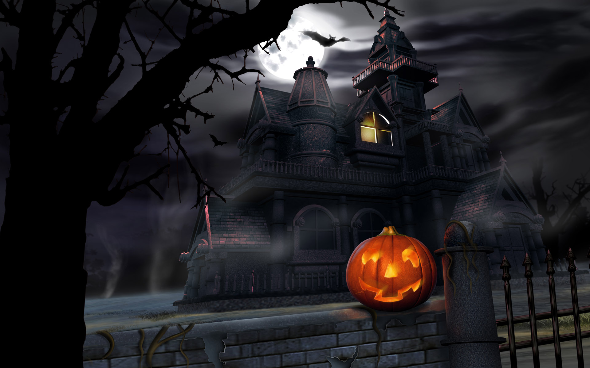 Free Download Scary Halloween Backgrounds  PixelsTalk Scary Halloween  HD Wallpapers  Pumpkins, Witches, Spider Web 1920x1200