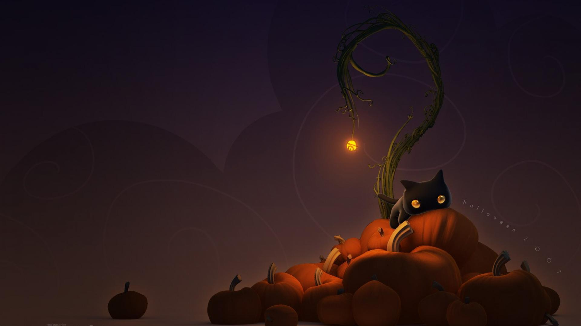 Cute halloween desktop wallpaper SF