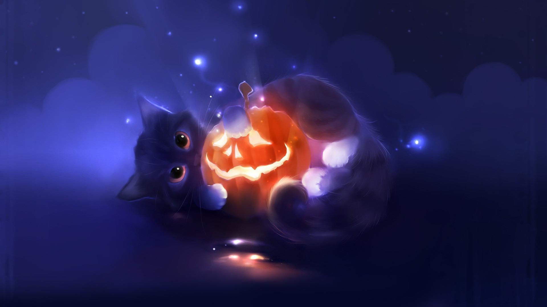 Download Halloween Cute Black Cat Wallpaper Full Size Mx