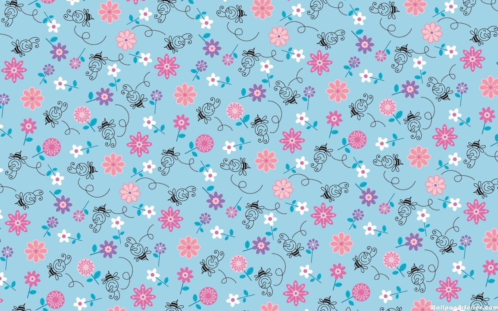Cute Girly Patterns Blue Download