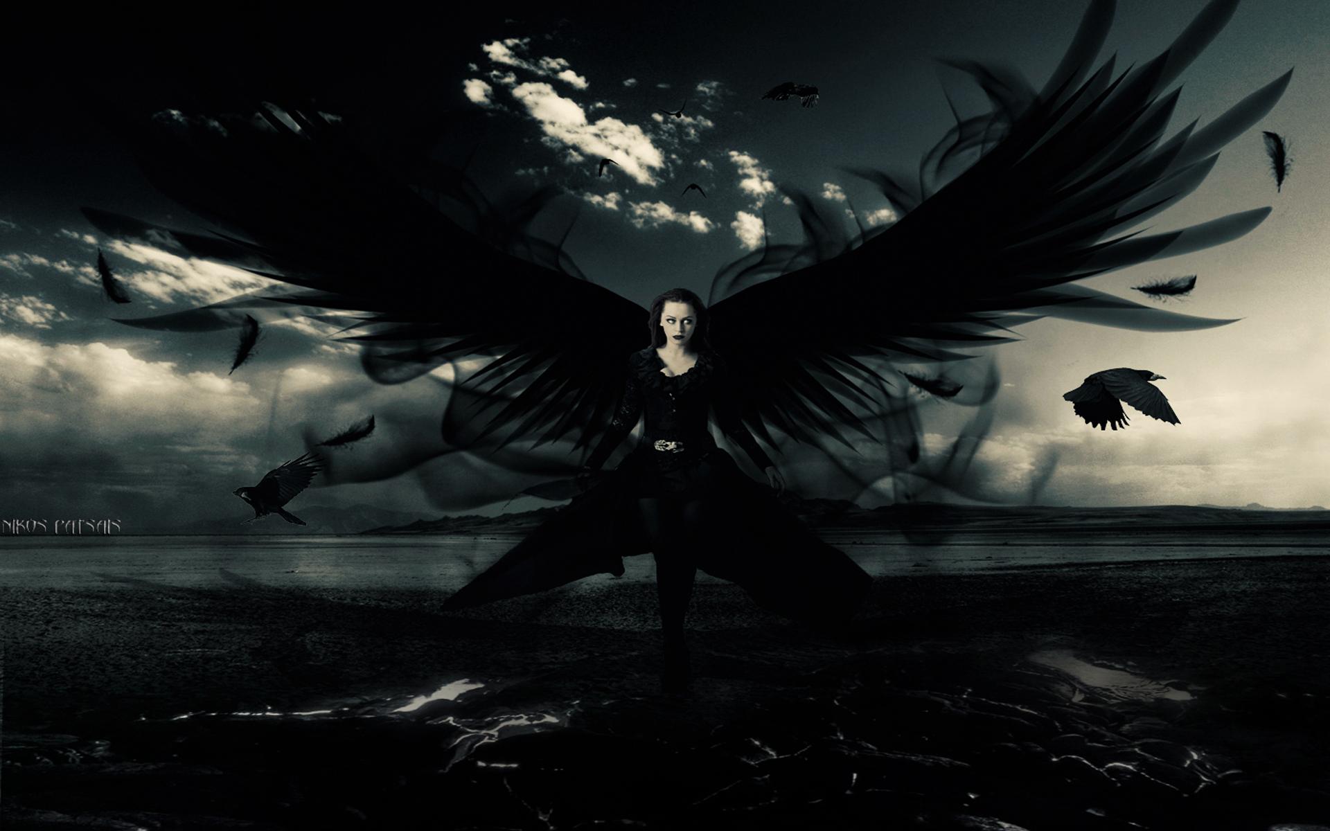 Dark Angel Anime Hd Wallpaper 1920x1200