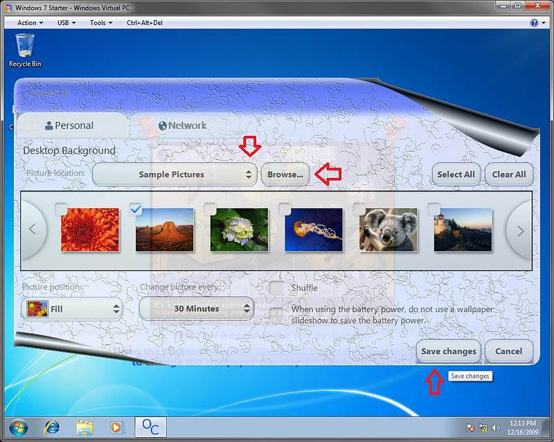 how to change size of desktop backgrounds windows 7