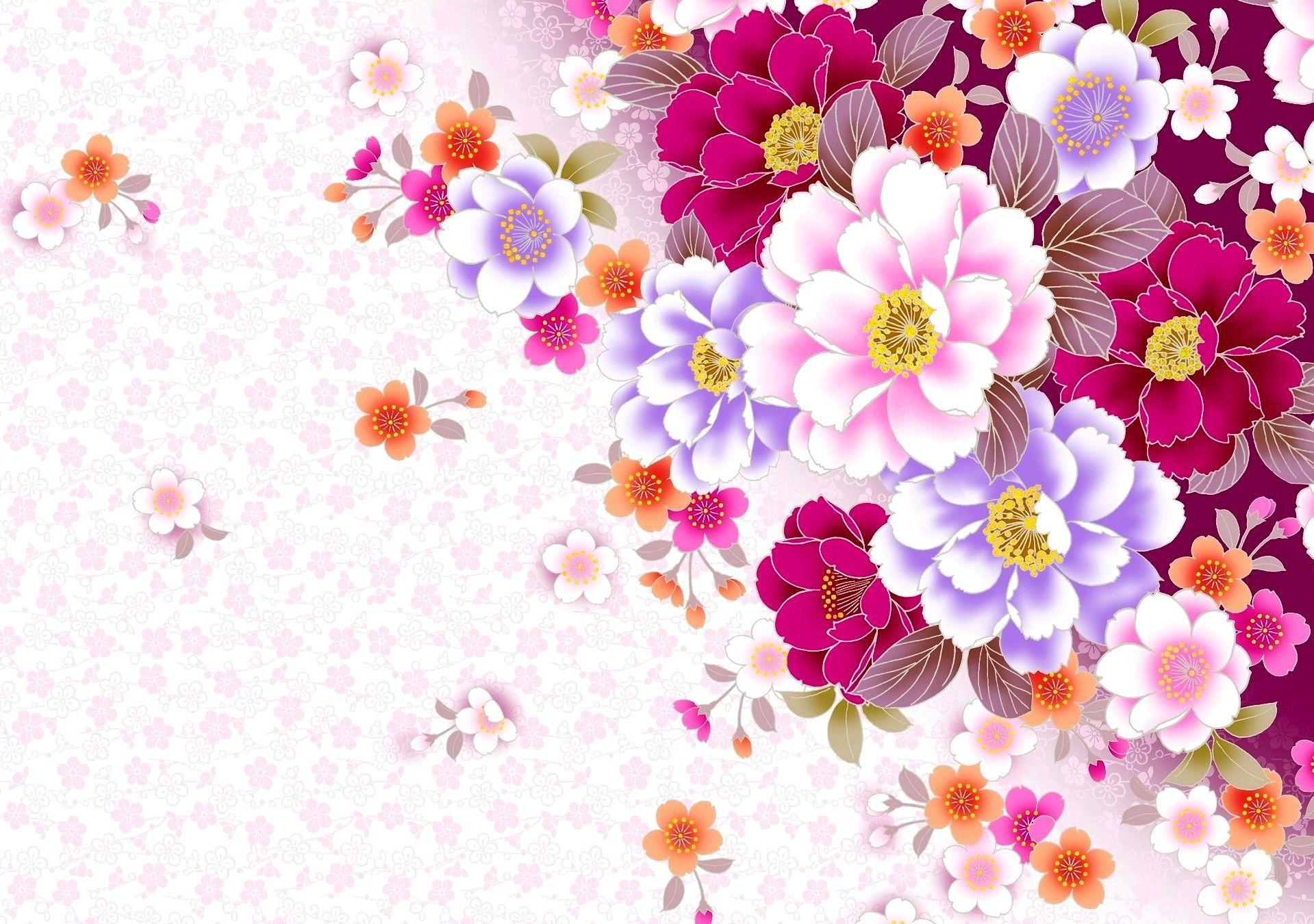 Great Pink Flower Wallpaper Laptop Phone Backgrounds Pinterest