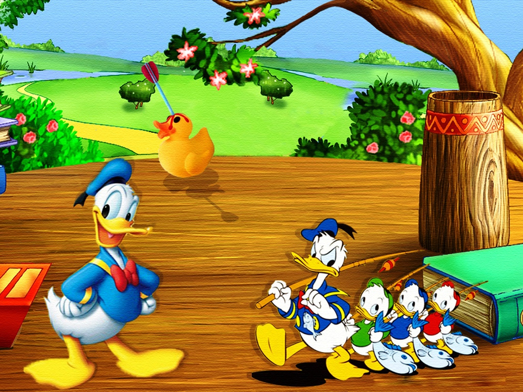 Donald Duck Cartoons Wallpapers 1024x768