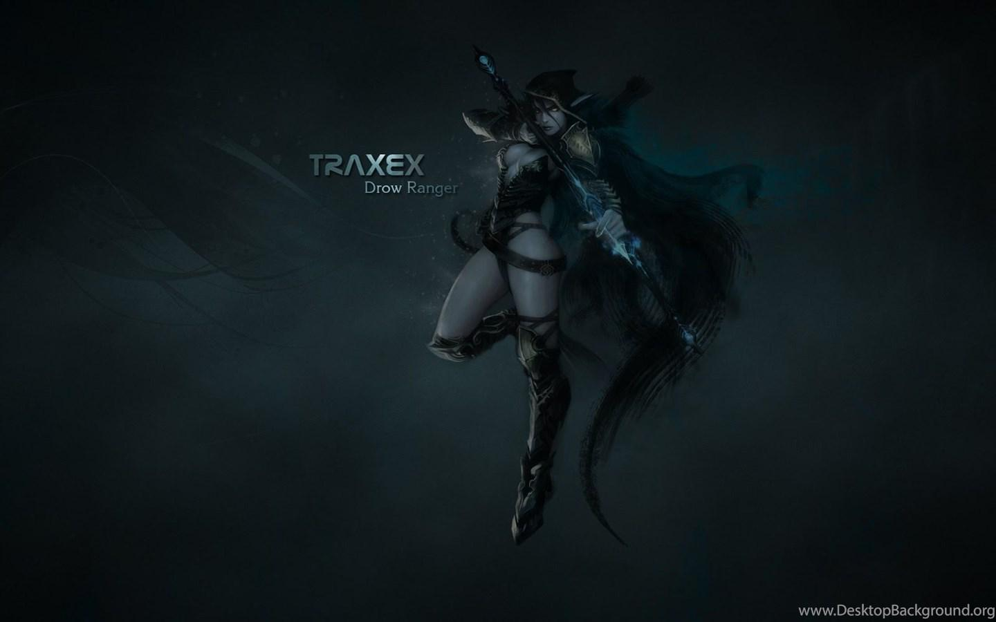 Download x HD Wallpaper traxex bow arrow dota drow