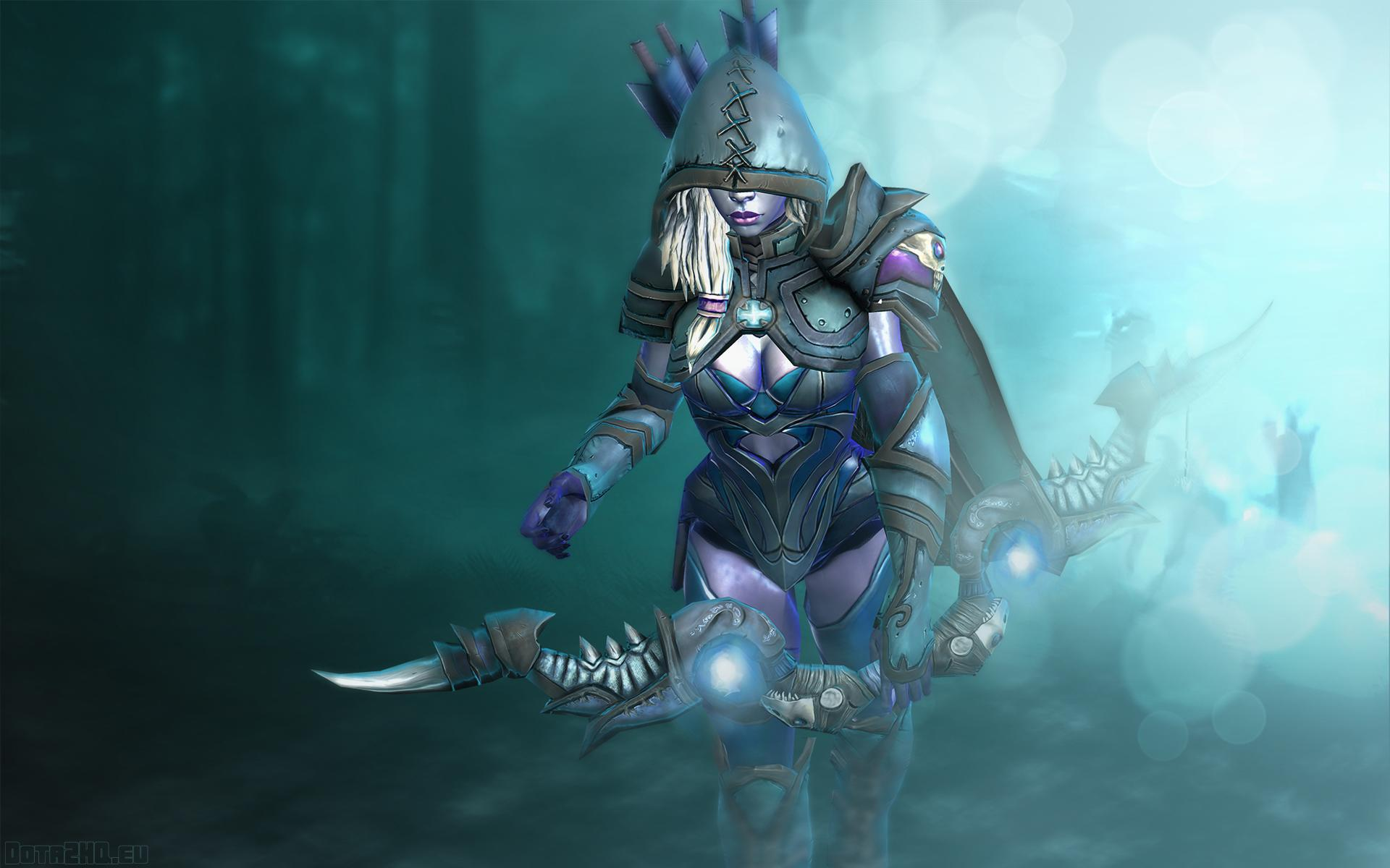 Dota a girl boom drow ranger fantasy wallpaper x