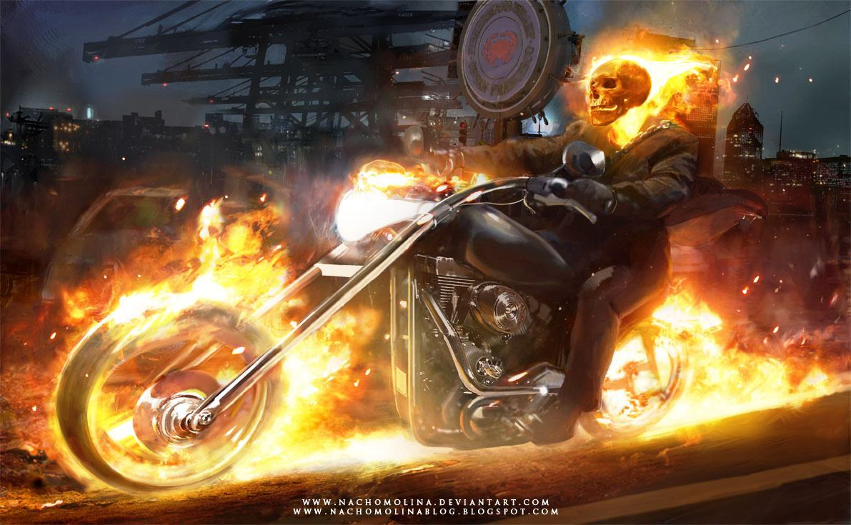 Photo Collection Ghost Rider Wallpaper Bike