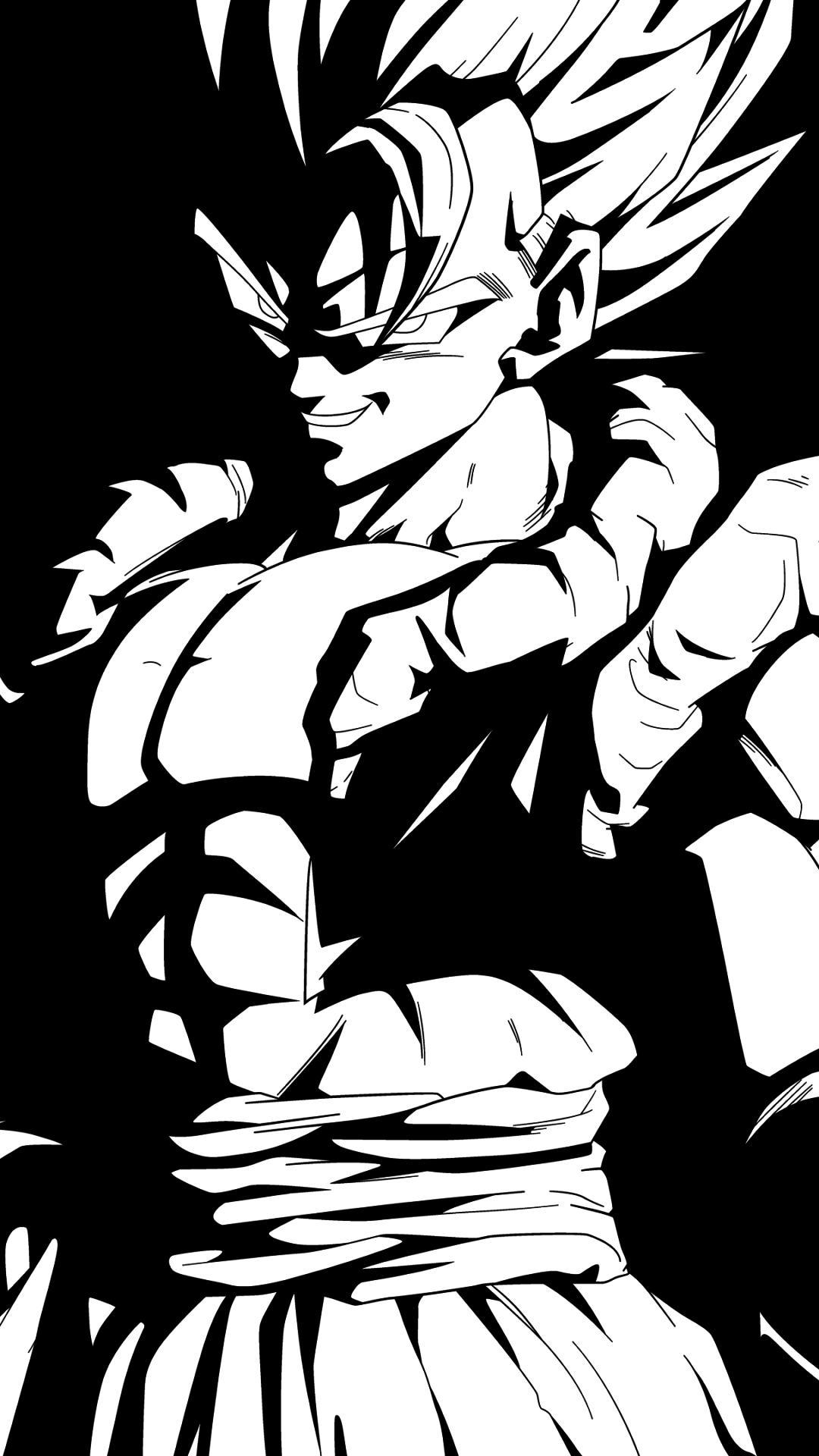 Dragon Ball Z wallpaper black and white11