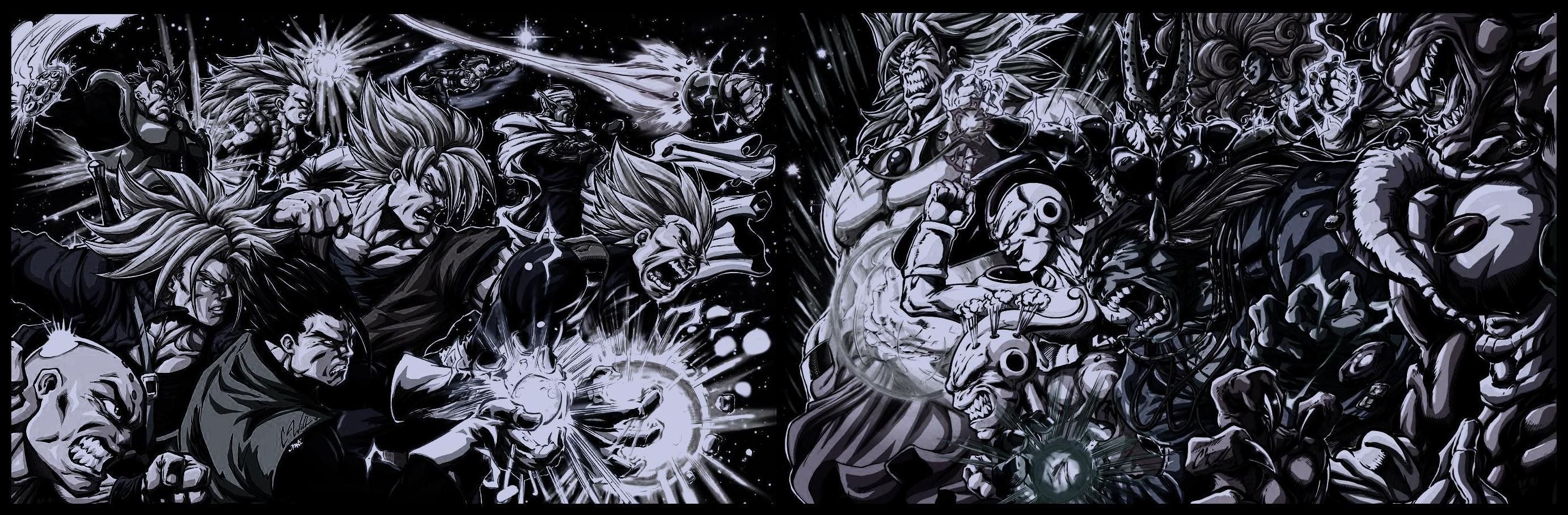 Dragon Ball Z wallpaper black and white72