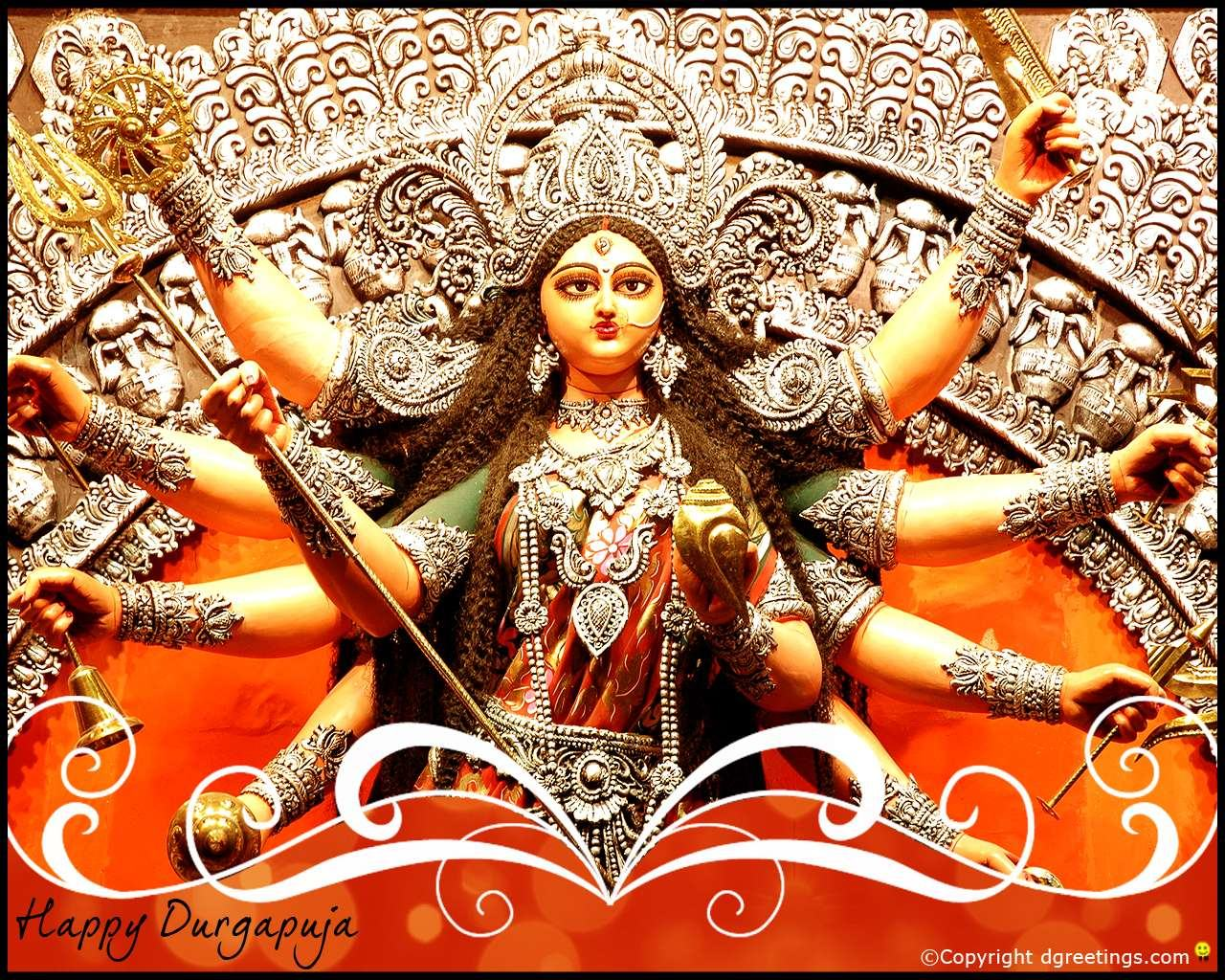 Happy Durga Puja Download HD wallpapers Rocking