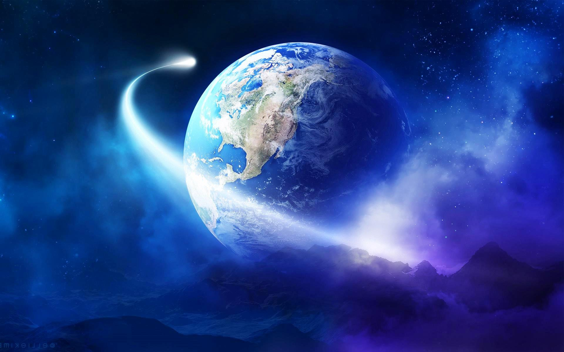 Earth From Space Wallpaper Hd Background Wallpaper