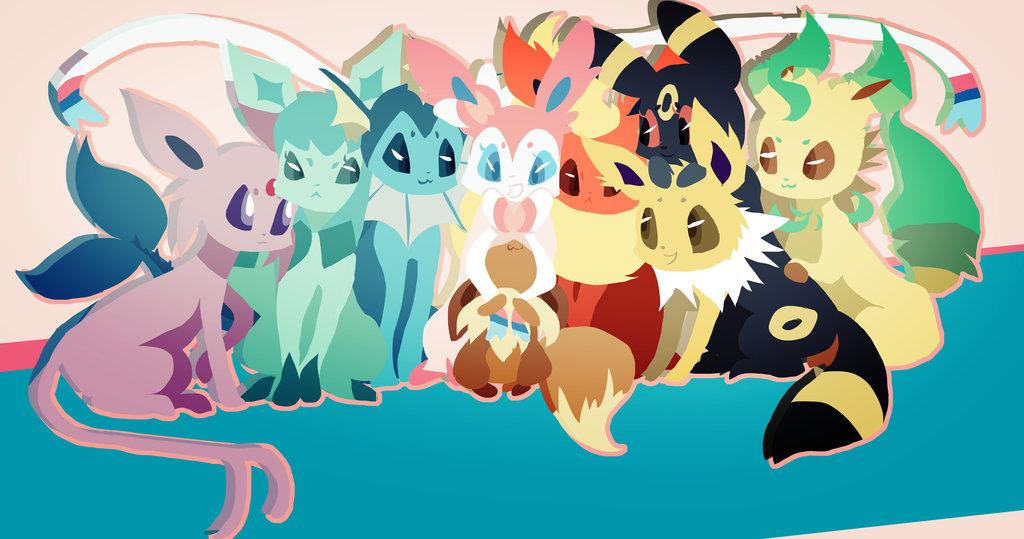 Eevee Evolutions Wallpaper 41 Wallpapers Adorable