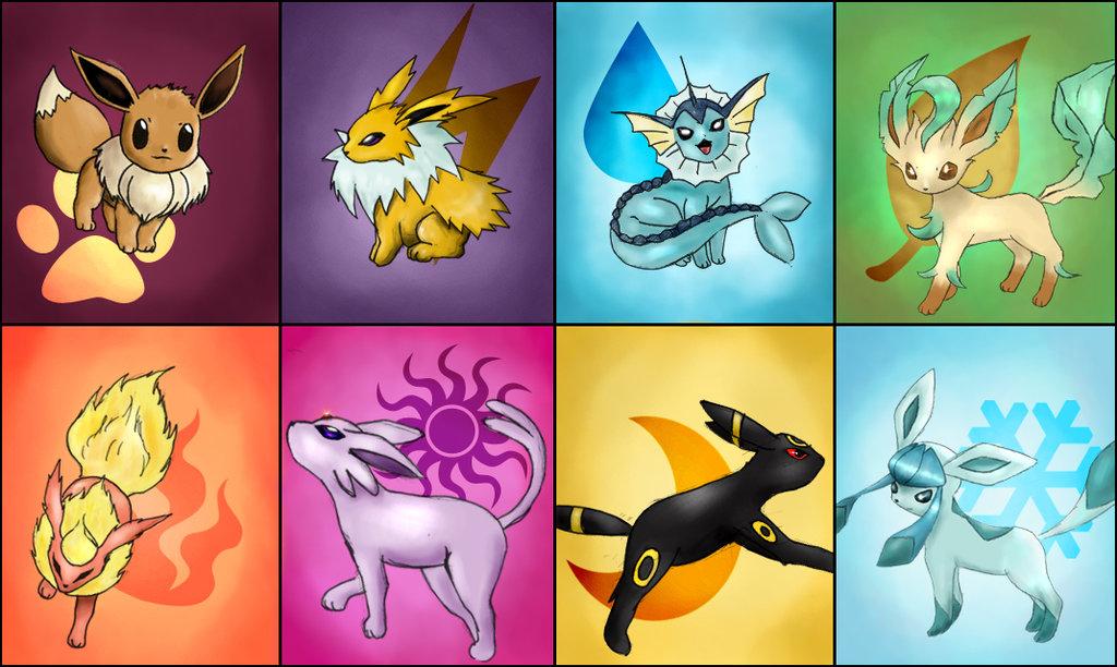 Покемоны картинки с эволюцией иви