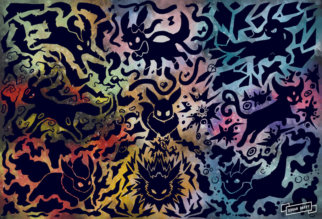 Eevee Evolutions Wallpaper 1024x696