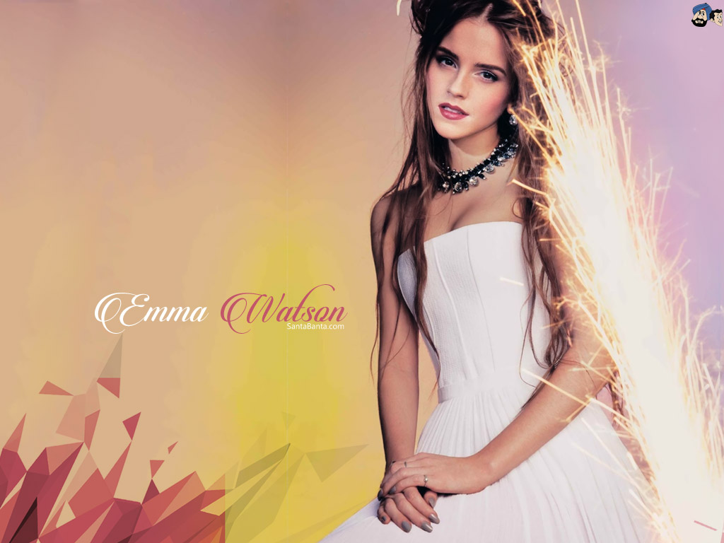 Emma Watson Black And White High Quality wallpaper colorful