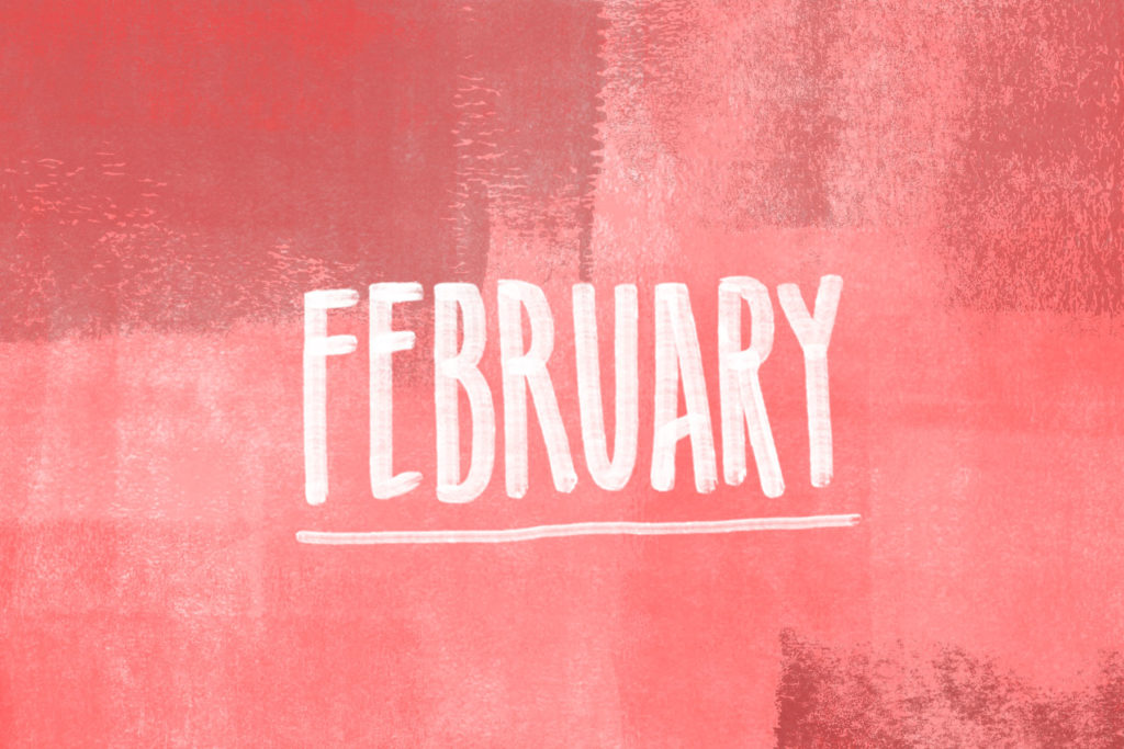 Hello February Wallpaper HD 1024x683