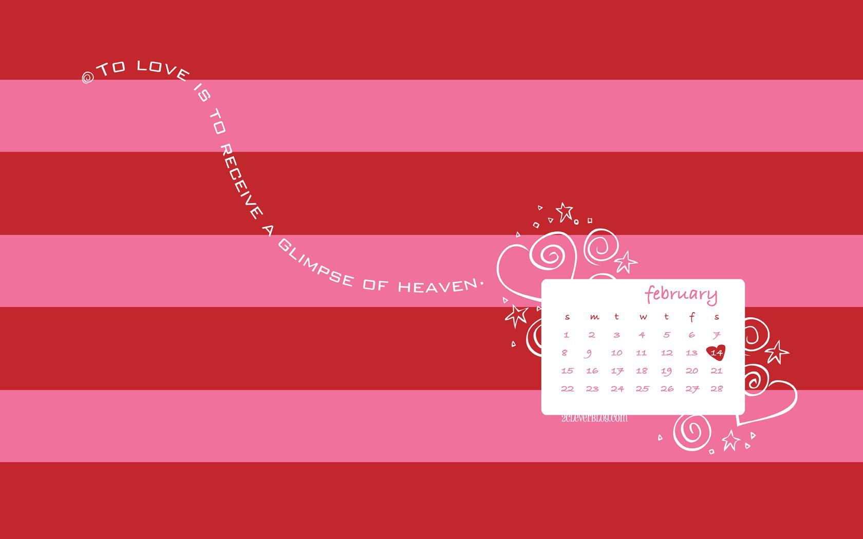 Win Calendar Wallpaper : February desktop backgrounds wallpapers adorable