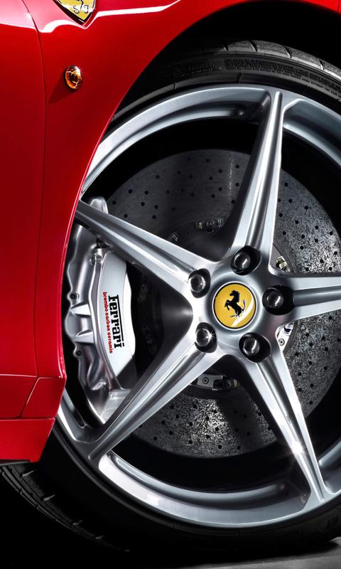Mobile Phone Ferrari Wallpapers Hd Desktop Backgrounds 480x800