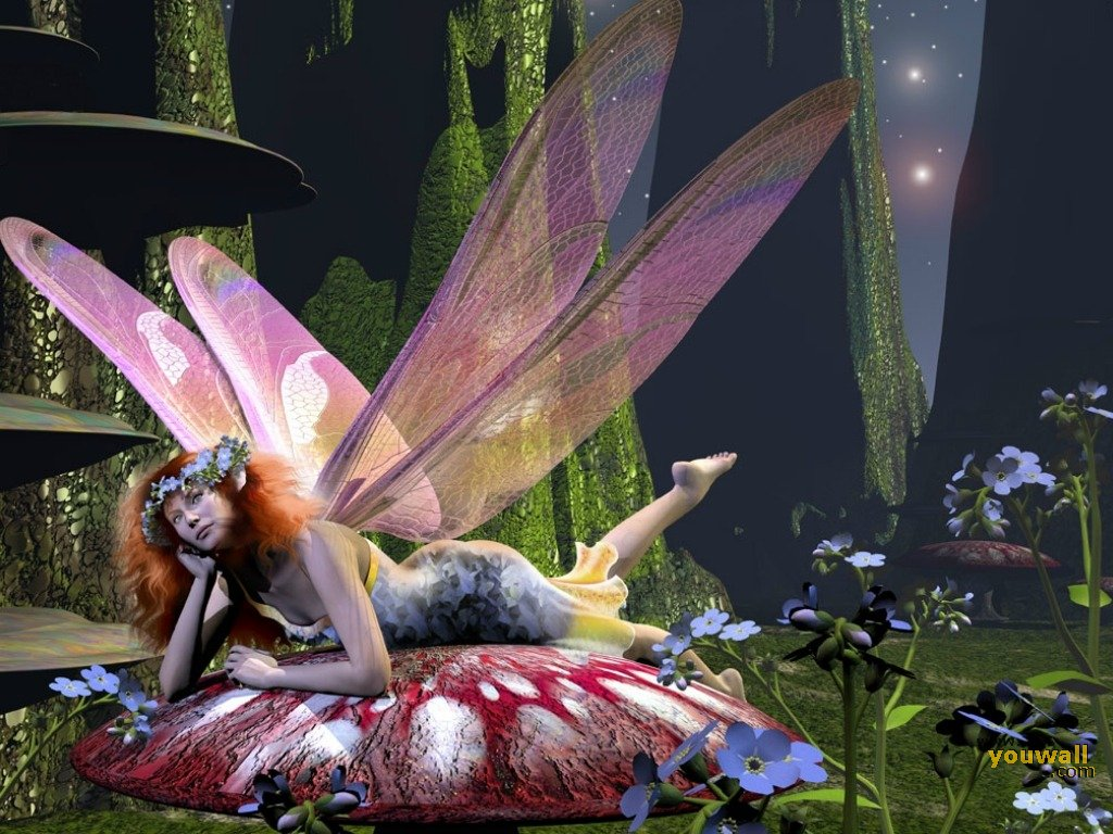 fairy Wallpaper Backgrounds 1024x768