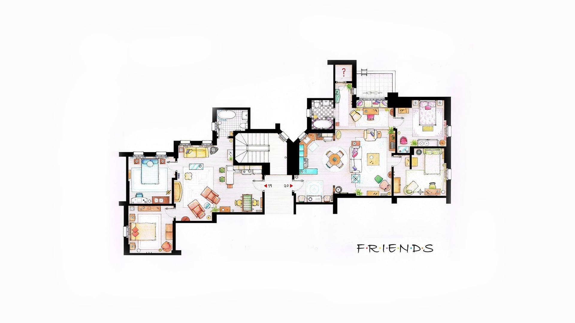 Friends Tv Show Iphone Background Iphone Wallpapers 1920x1080
