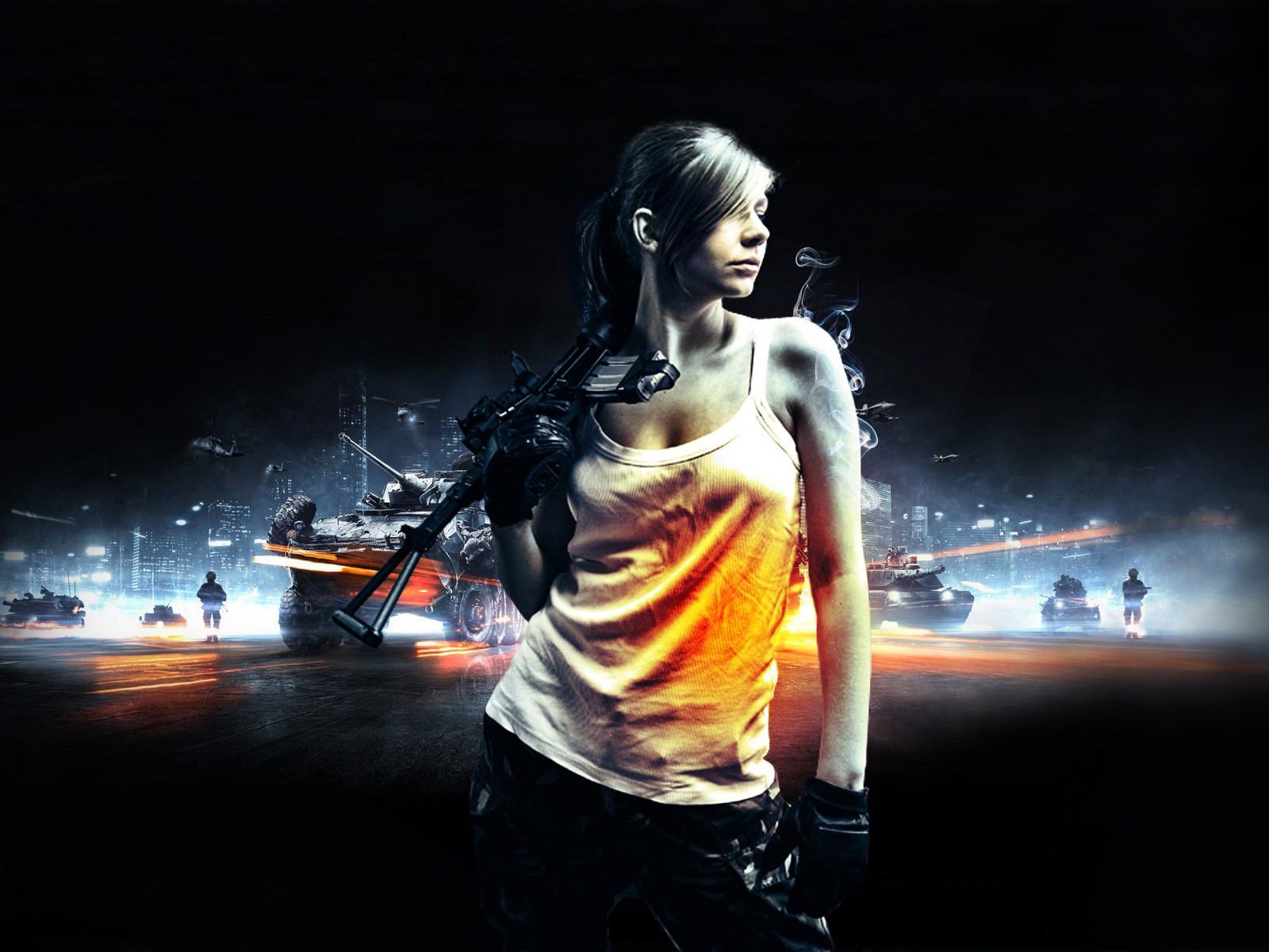 Girl with guns Wallpapers  Pictures 1600x1200
