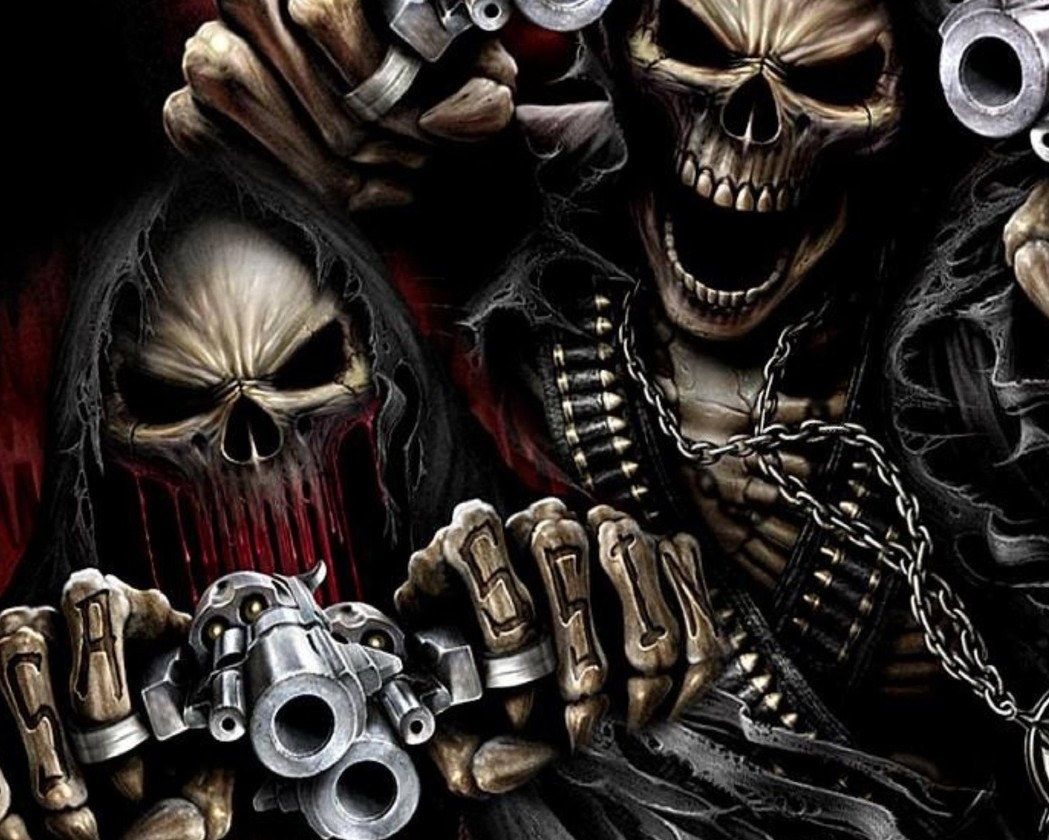 Photo Collection Skeleton Of Guns Shooting Wallpapers