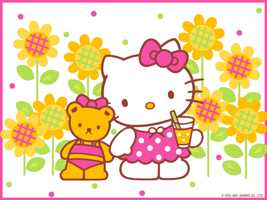 Hello kitty free wallpapers wallpaper 1024x768 voltagebd Image collections