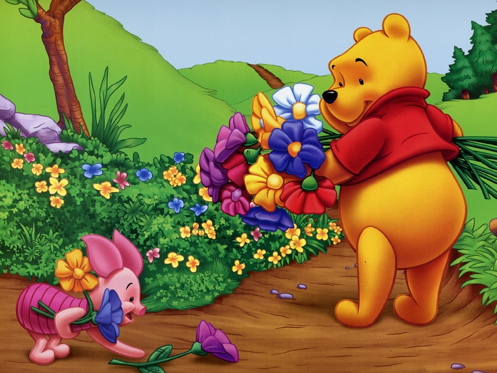 Adorable Winnie The Pooh Wallpapers 1024x768