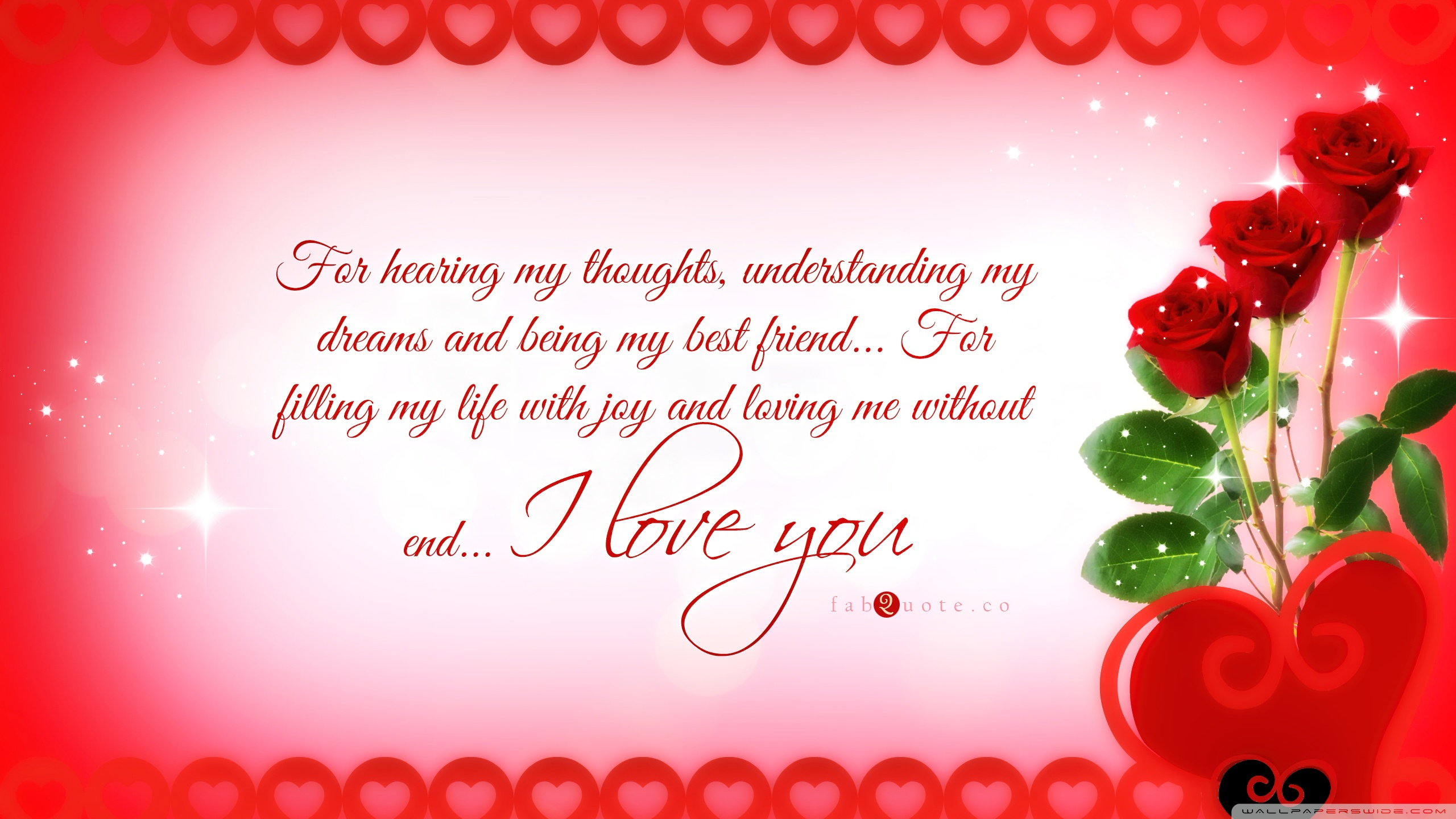 I Love You Hd Wallpaper On Valentines Day 2560x1440
