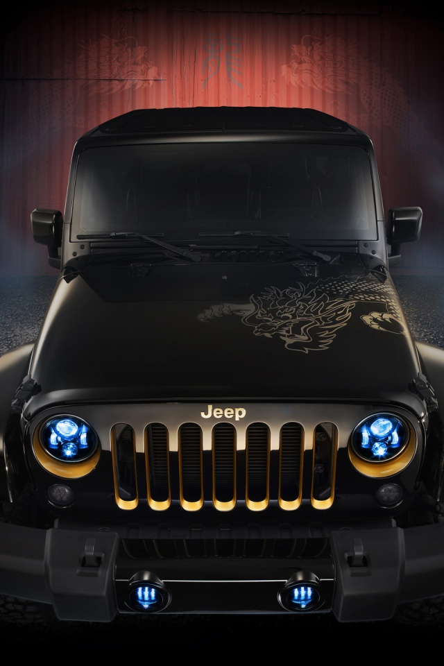 X Jeep Wrangler Dragon Design Concept Static Iphone