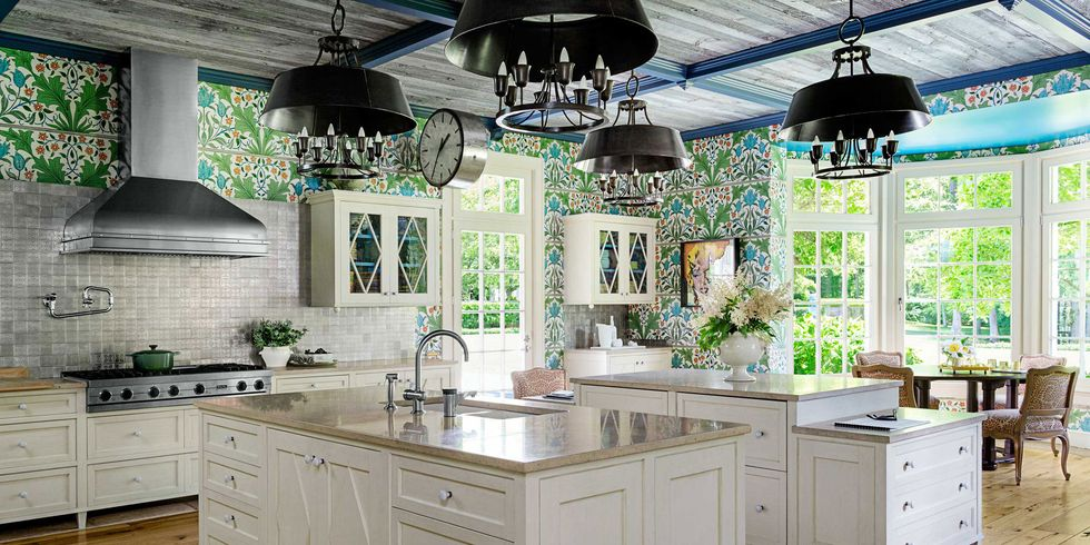 kitchen wallpaper designs. Do You Have Wallpaper in Your Kitchen  Green kitchen Cabinets 980 490 34 Wallpapers Adorable