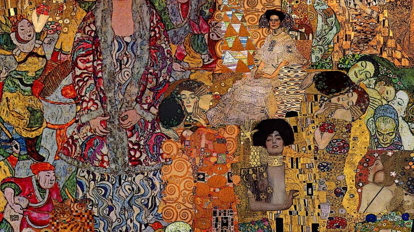 Mural Wall Art Klimt Wallpaper Www Pixshark Com Images Galleries With