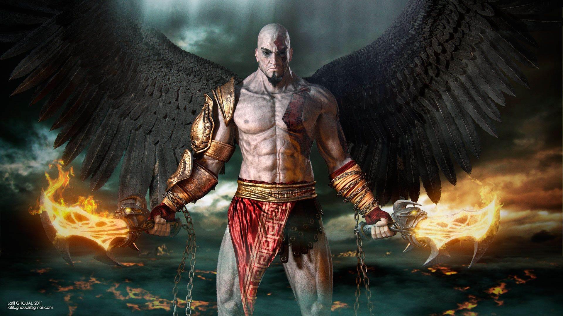 Kratos Fighting In God Of War Hd Desktop Wallpaper