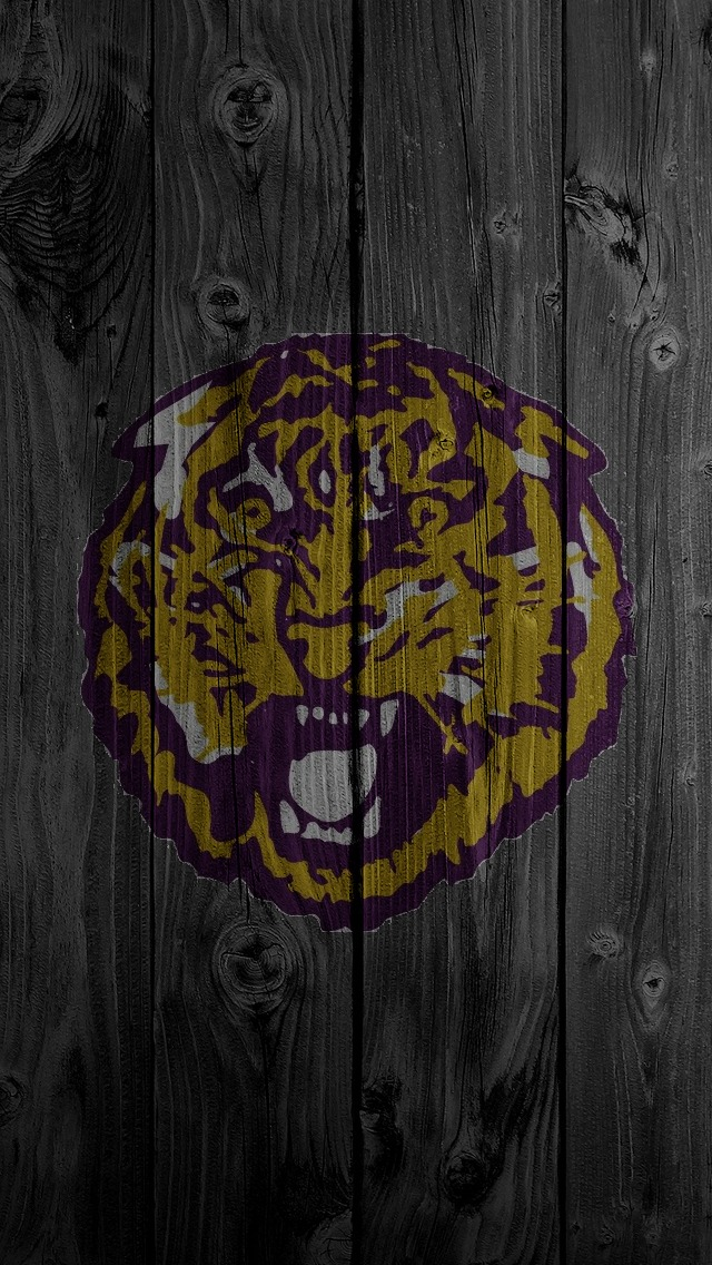 Purple and Gold LSU iPhone  Wallpaper  640x1136