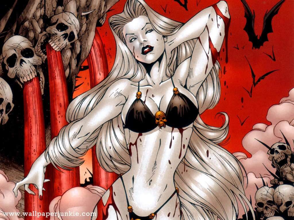 LADY DEATH horror dark demon satan goddess fantasy sexy babe ( 1024x768