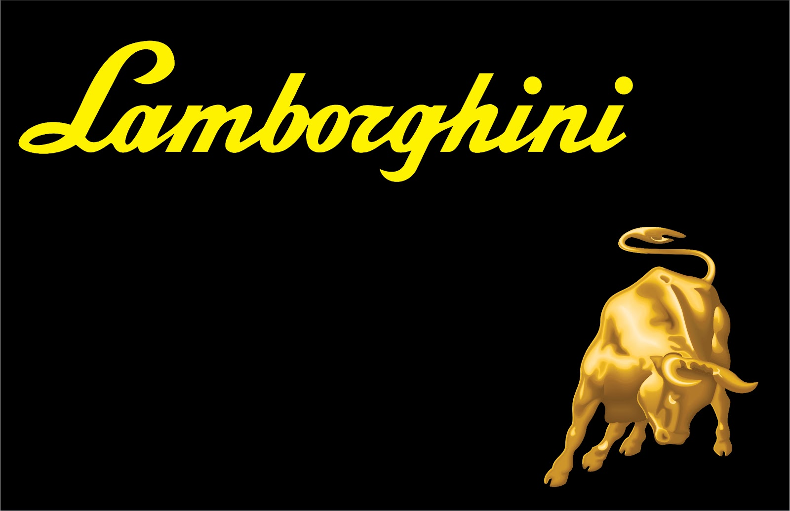 Lamborghini Logo Black Background Android Wallpaper Free Download