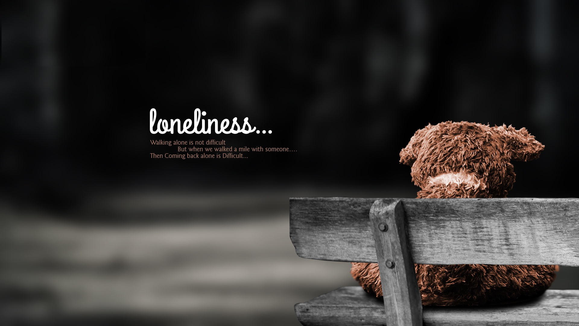 Loneliness Wallpapers HD, Desktop Backgrounds, Images and Pictures 1920x1080