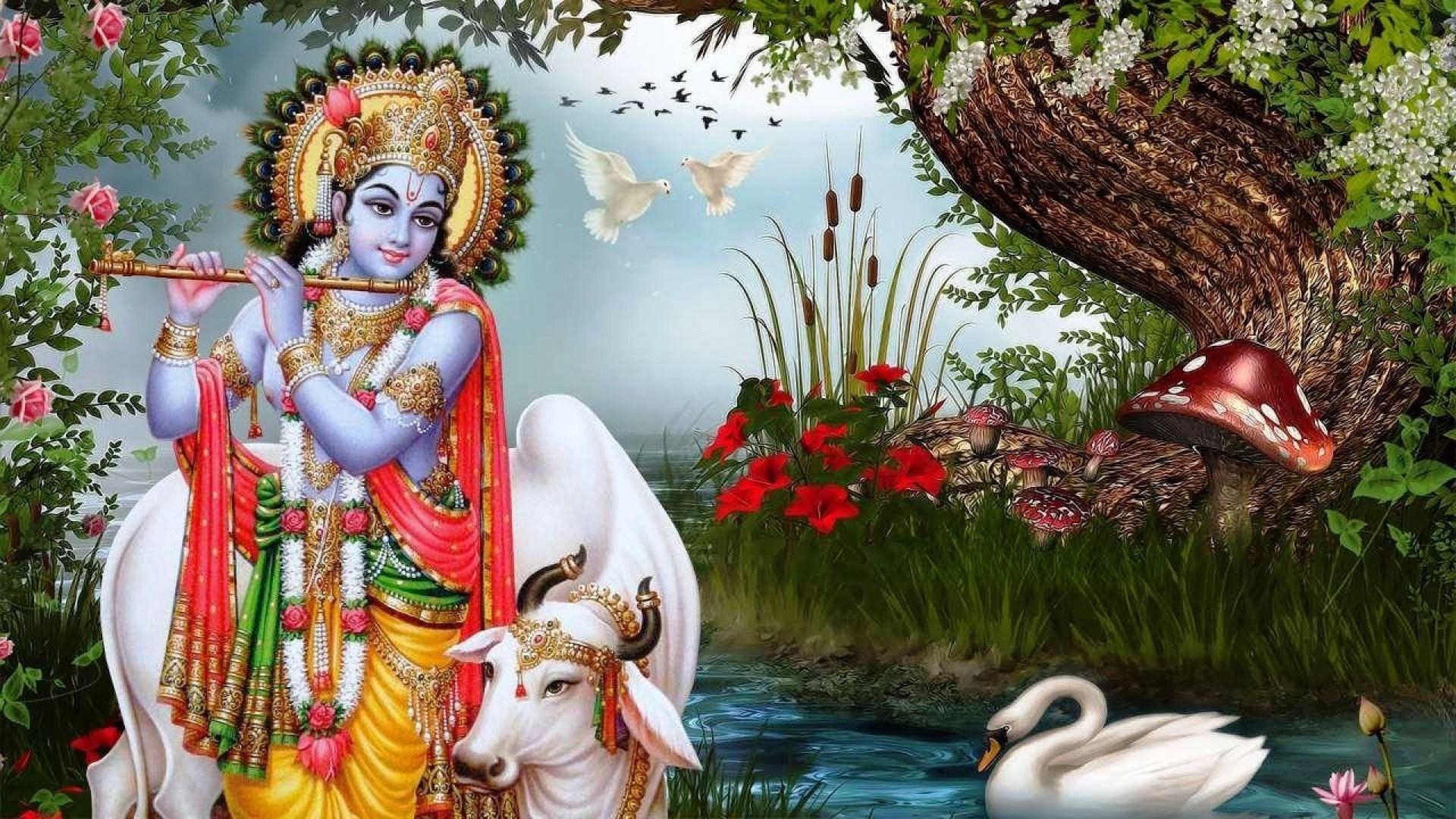 Lord Krishna Viraat Roop wallpapers79