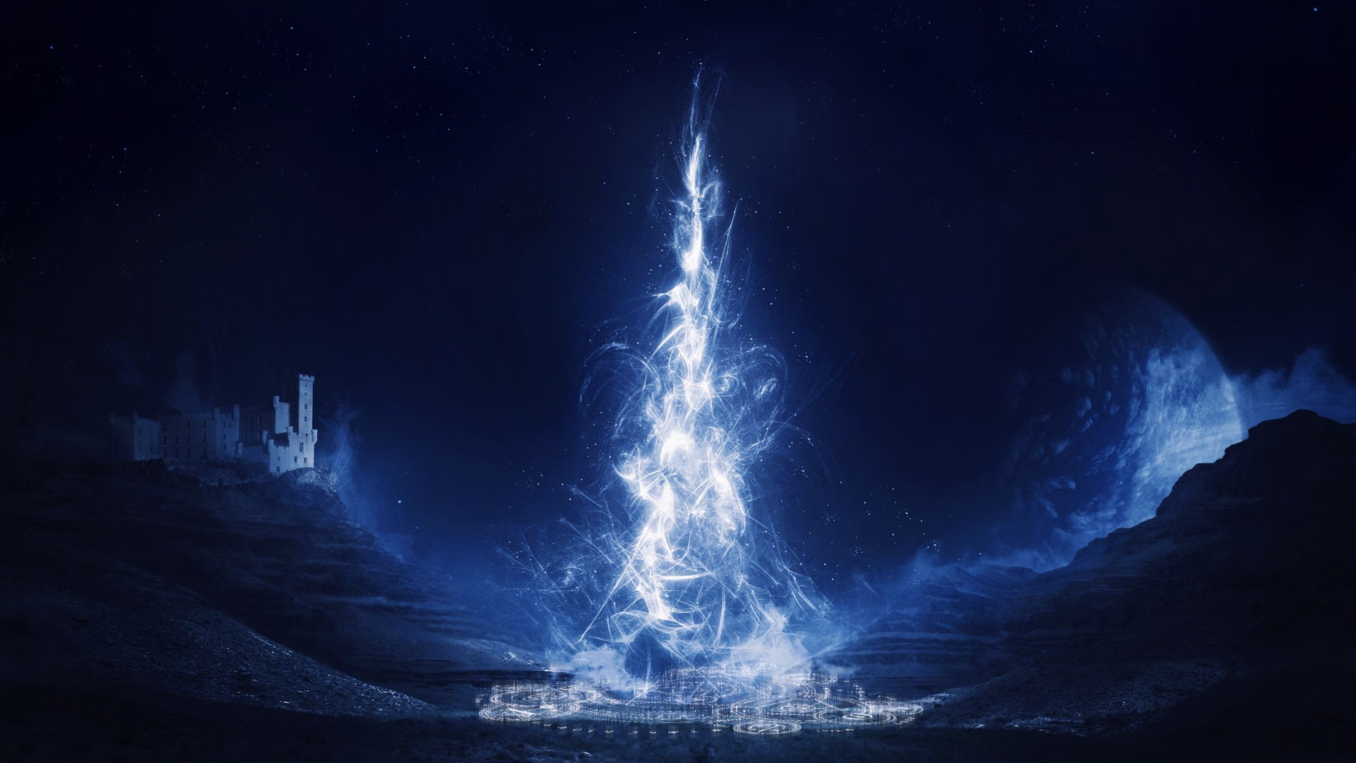 Group of magical blue wallpaper magical wallpaper the wallpaper voltagebd Image collections