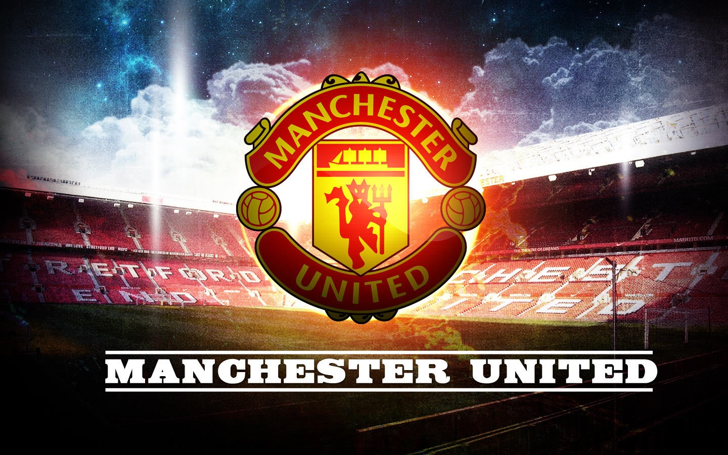 Manchester united logo wallpapers hd wallpaper 1440x900 voltagebd Image collections