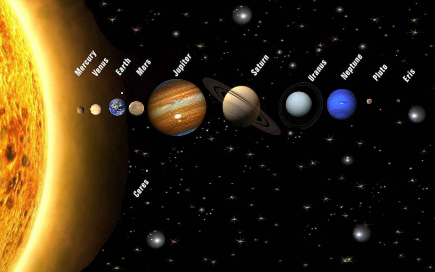 artists concept our solar system solar system - HD1440×900