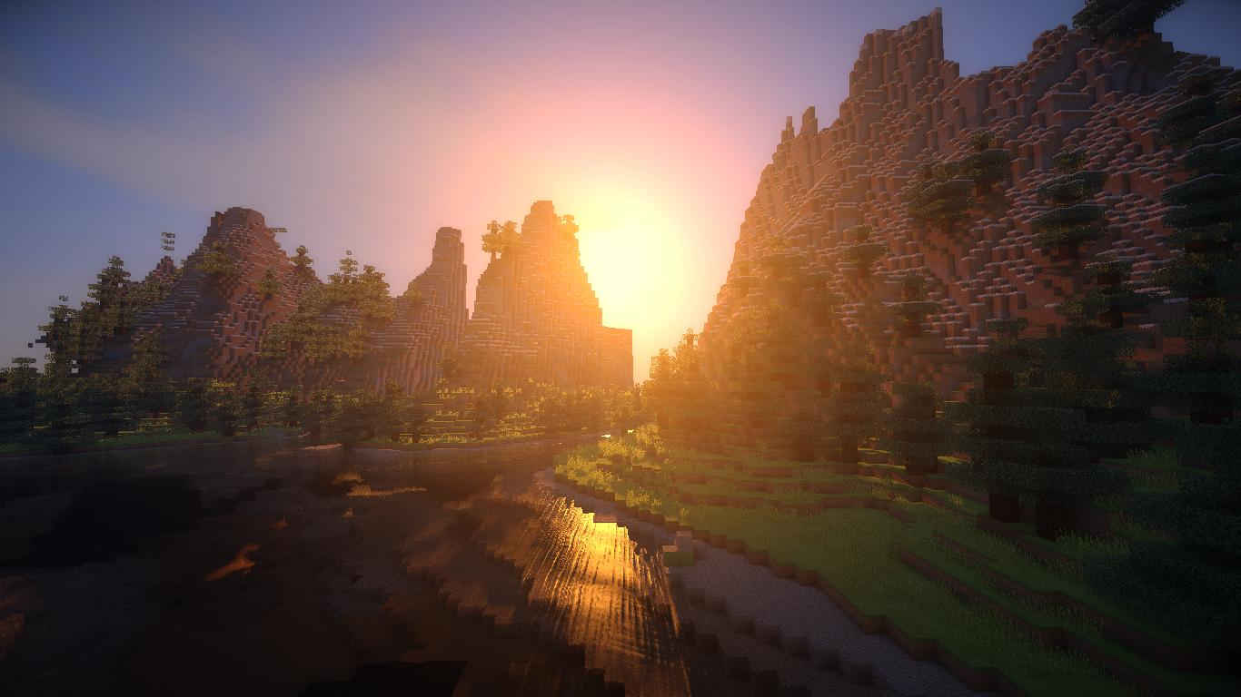 Group of Minecraft Shaders Sunset172 Sonic