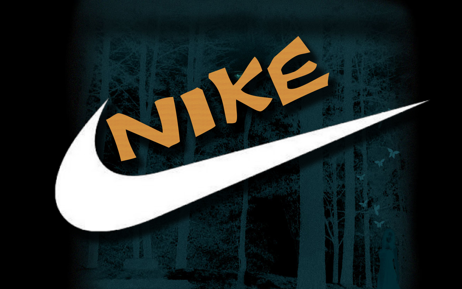 Nike Basketball Logo Blue Background Hd Wallpapers 1920x1200
