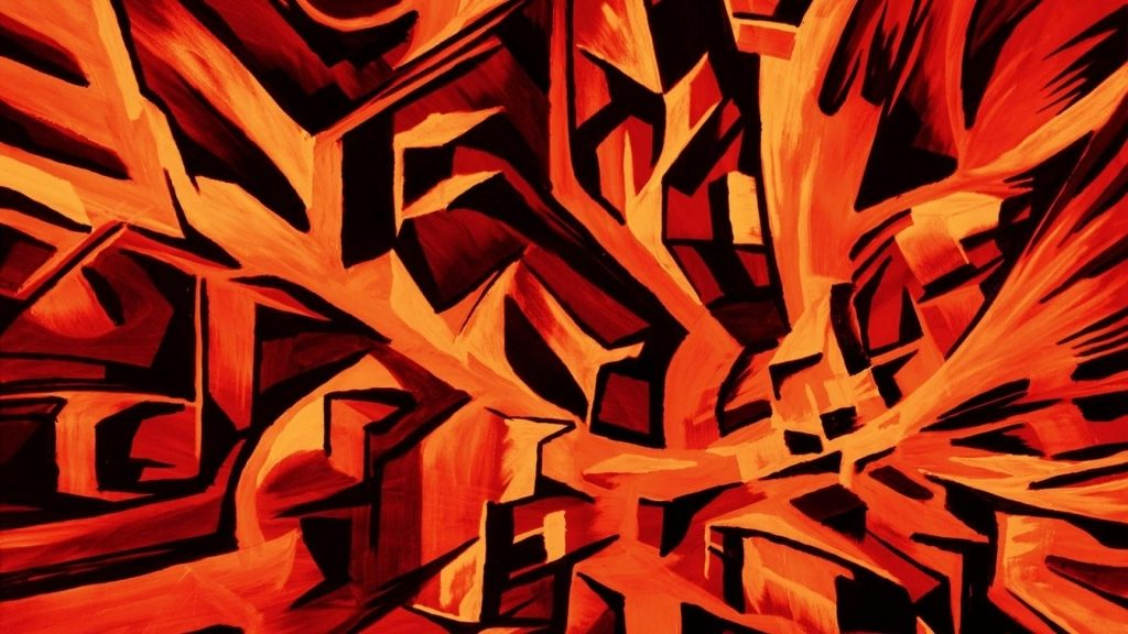 Orange Black Wallpaper 001
