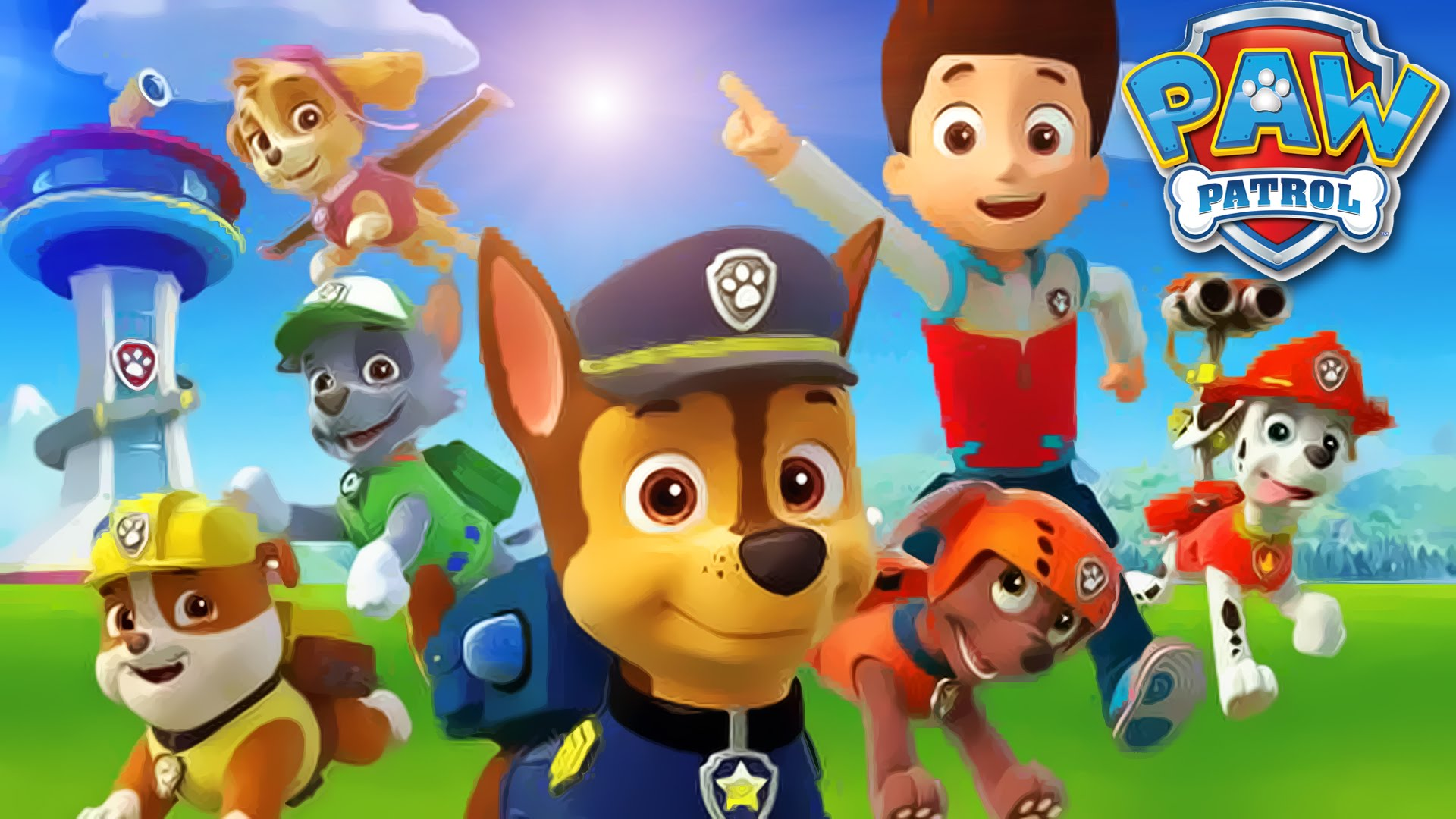 Full HD Paw Patrol Images, Wallpapers for Desktop, HBC paw print wallpaper  eBay 1920x1080